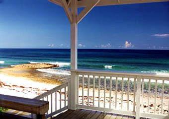 Bahamas Beach House Deck View