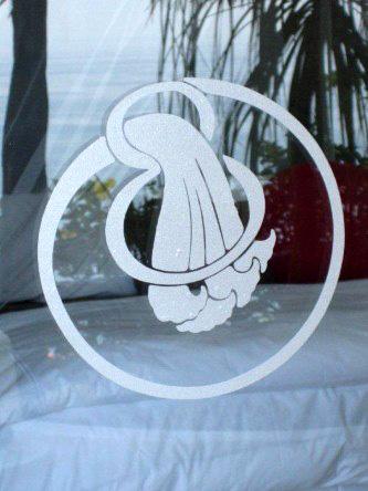 New Ocho Cascadas Villa 4 bedroom glass door etched logo