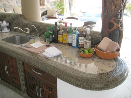 New Ocho Cascadas Villa 4 kitchen granite counter