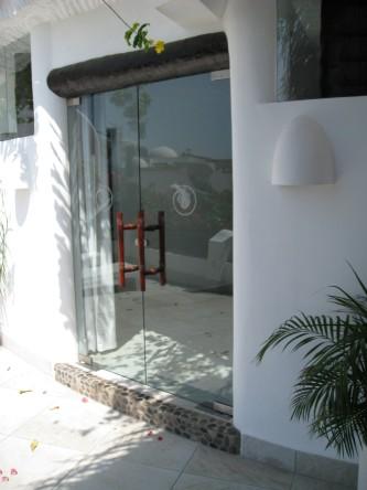 New Ocho Cascadas Villa 4 master bedroom glass doors