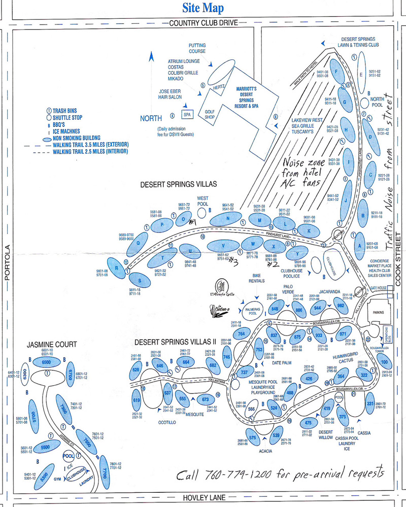 Marriott Desert Springs Timeshare Resort Map Page 5 of 7